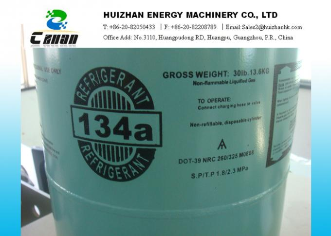 30lb 13.6KG Disposable Cylinder HFC Refrigerants R134a SGS Approved C2H2F4