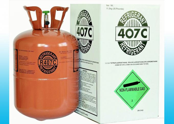 Commercial Air conditioning R407C HFC Refrigerants Gas With SGS