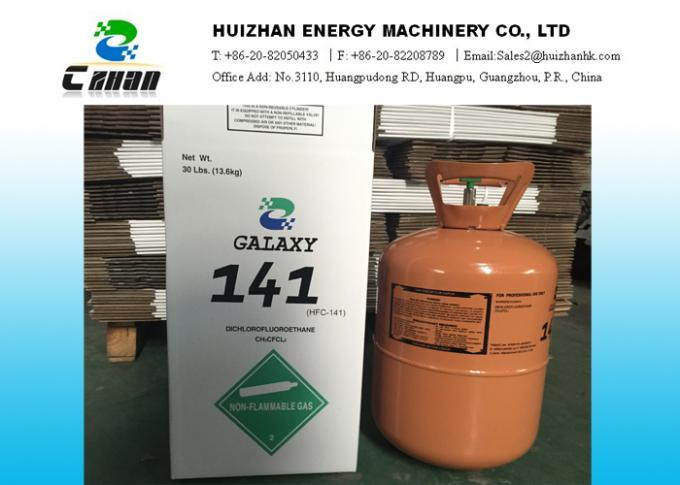 CAS No. 1717-00-6 HCFC Refrigerants R141B  / Foaming And Cleaning Agent With Galaxy Packing