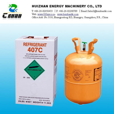 China R407C HCFC Refrigerant GAS  Refrigerants Air conditioning Potential Health Effects supplier