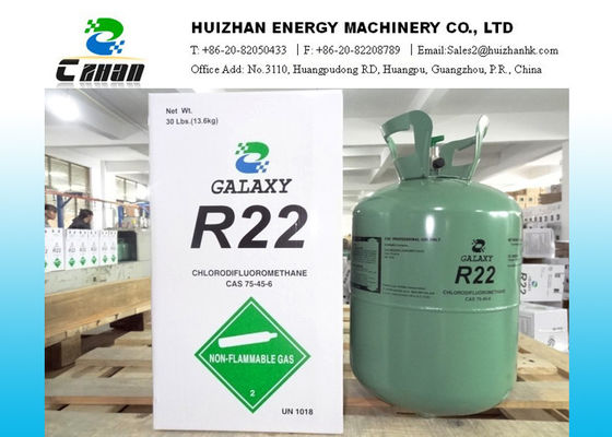 China 30lb Disposable Cylinder R22 HCFC Refrigerants CAS NO.75-45-6 With 99.98% Purity supplier