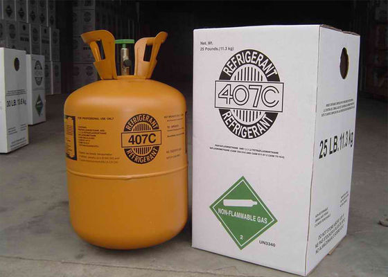 China R22 Substitute R407C Refrigerant With High Purity For Refrigeranting Systems supplier
