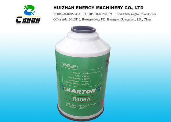 China N.T. 340g R406A refrigerant drop-in replacement for R-12 Refrigerants In Small Can supplier