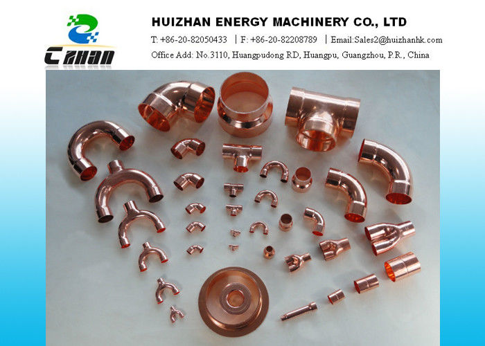 Welding air conditioning copper pipe fittings copper tee for Copper water pipe fittings types