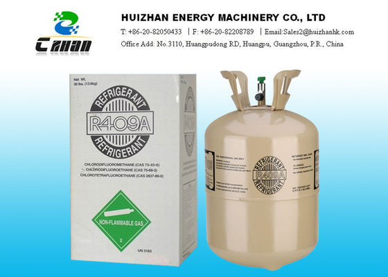 China R409A Freon Gas HCFC Refrigerants for R-12 / a 20ft container factory