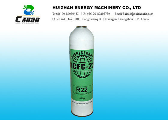China Cas No. 75-45-6 HCFC Refrigerant R22 CHClF2 With 99.98% Purity In Small Can And 30lb 13.6kg Cylinder factory