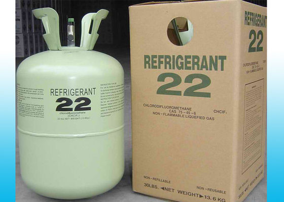 China OEM Packing 30LB R22 HCFC Refrigerants / Air Conditioner Refrigerants factory