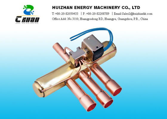 China Heat Exchange 4 Way Reversing Valve Customized Refrigeration Ball Valves distributor