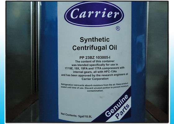 China 5 GAL 18.9L Carrier Ester Synthetic Centrifugal Oil For R134a Refrigerant gas distributor